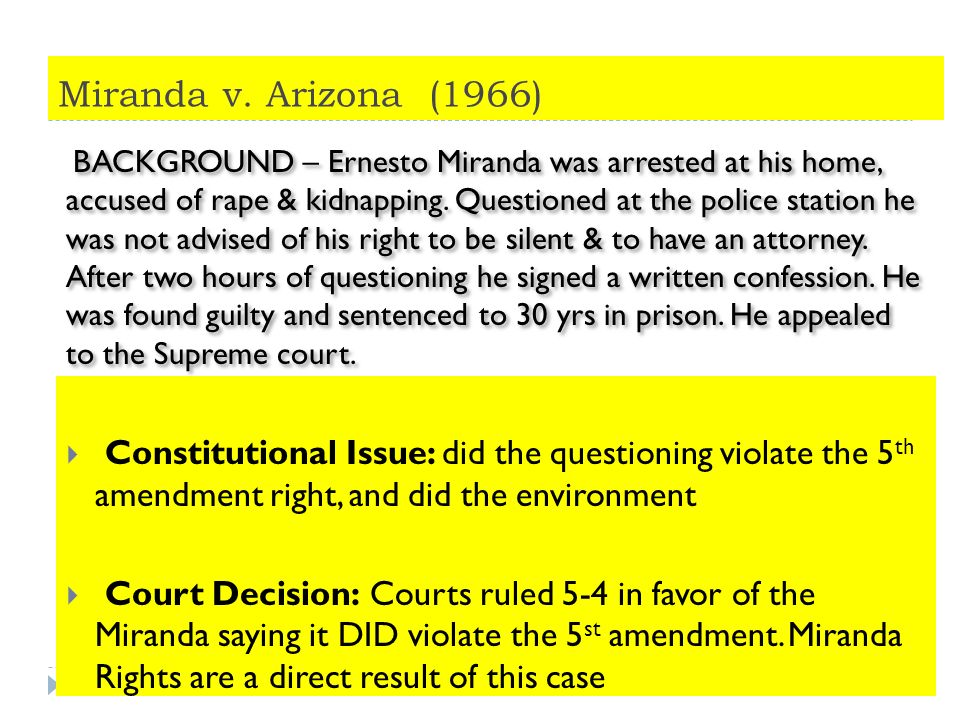 Worksheets Landmark Supreme Court Cases Worksheet landmark supreme court cases notes read the background aloud miranda v arizona 1966 constitutional issue did questioning violate the