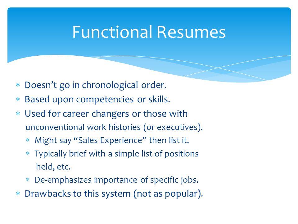 functional resume vs chronological