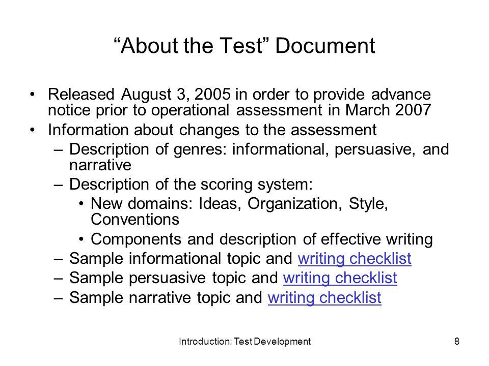 Georgia High School Writing test incomplete?