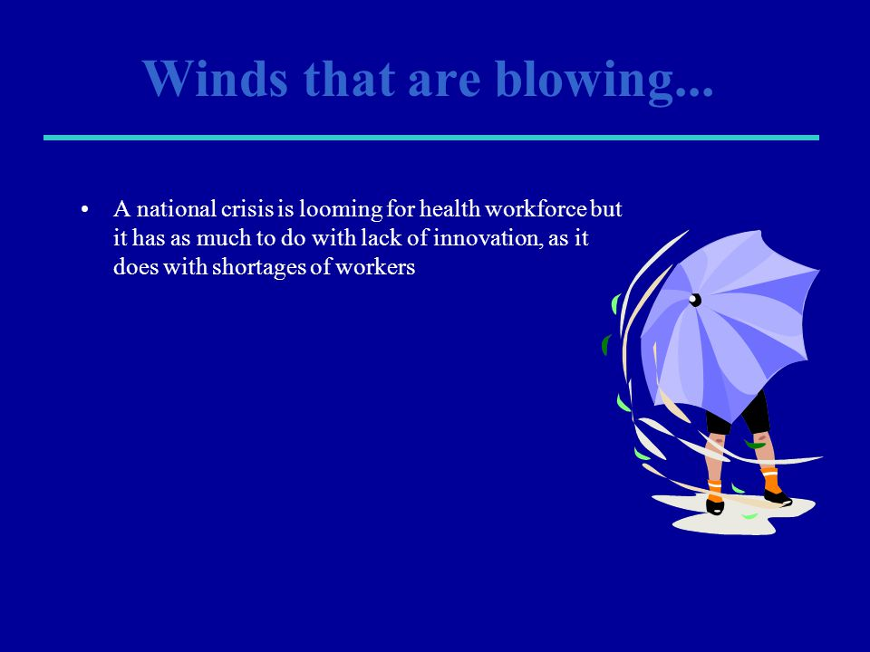 Winds that are blowing...