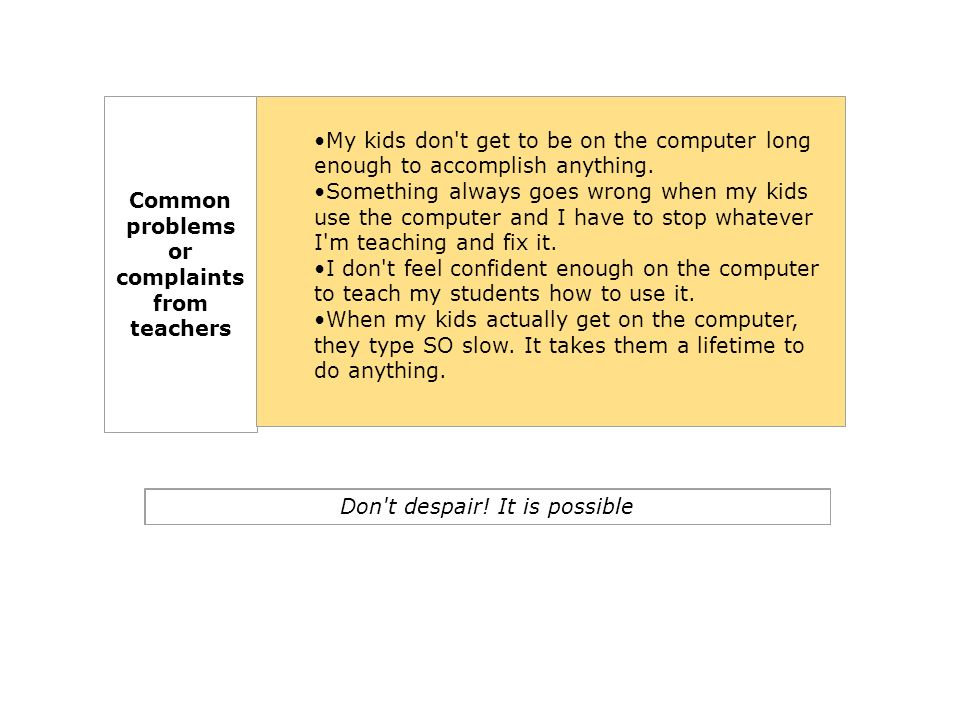 Step 1 Use the computer yourself.Set an example for your students.