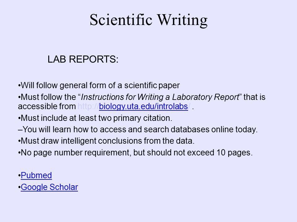 in writing a scientific lab report what is the correct order of the steps A guide to laboratory report writing  to complete your physics lab reports should be written in the order listed  correct and clear schematic drawing of.