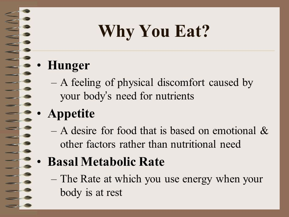 Why You Eat.