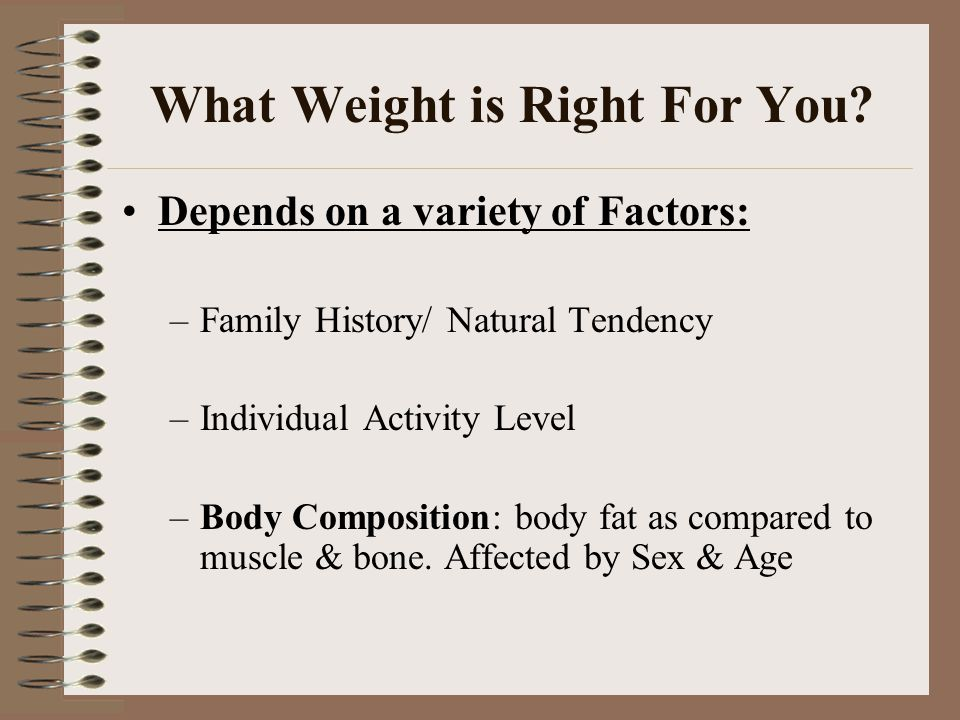 What Weight is Right For You.