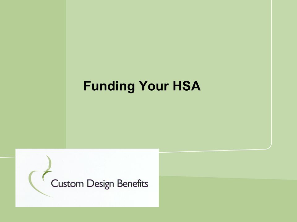 Funding Your HSA