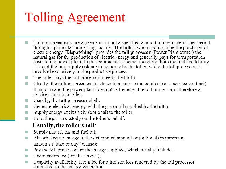 Image Gallery Tolling Agreement