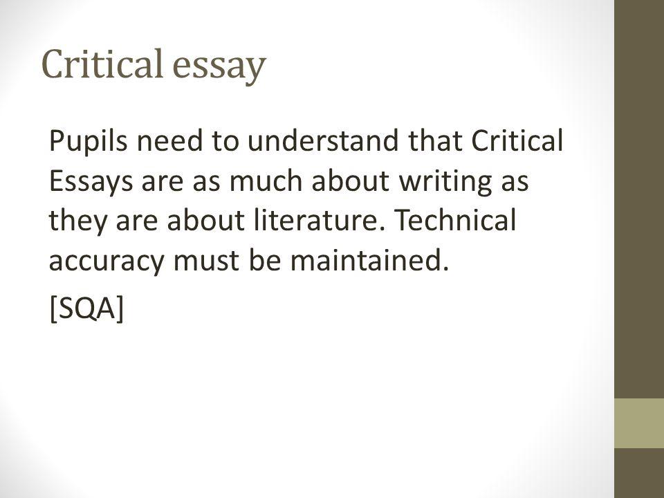 How do you write a literary critisicm essay?