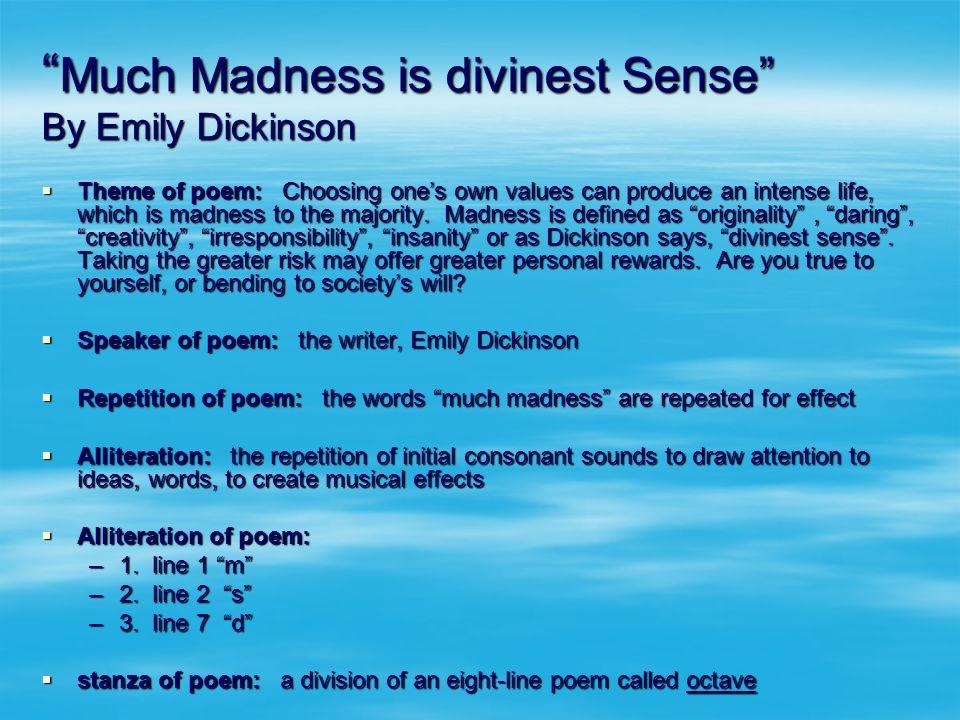 divinest sense