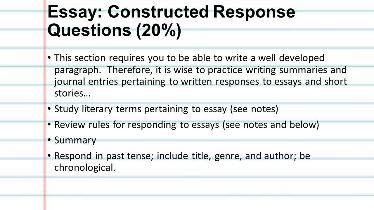 grade seven exam study guide exam review exam value % of 10 essay constructed