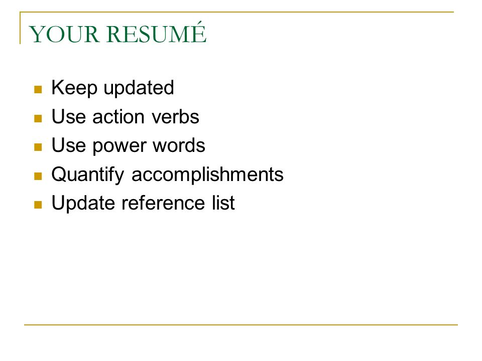 power words to use in resumes