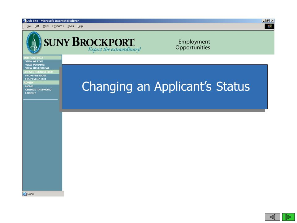 Changing an Applicant's Status