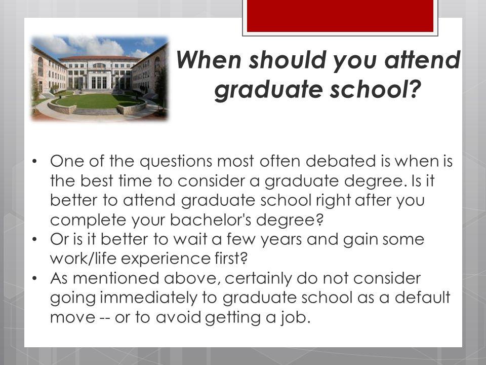 Questions Regarding Graduate Schools?