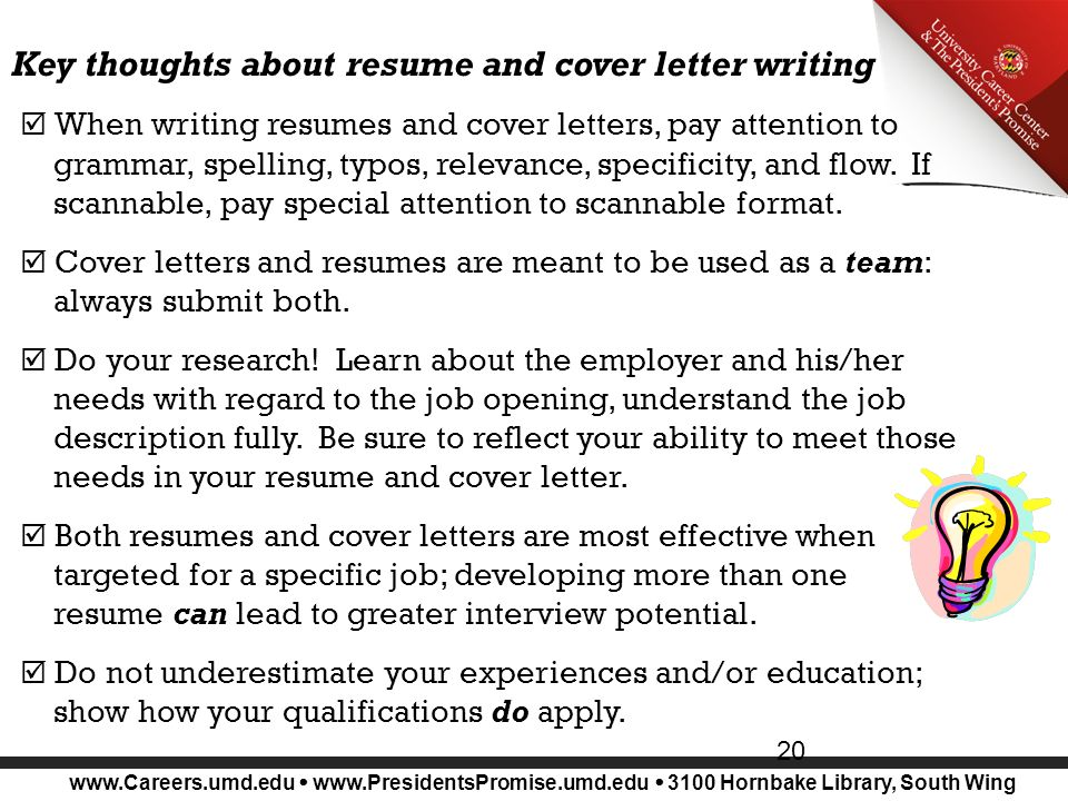 because you can't stay in school forever! Resumes, Cover Letters ...