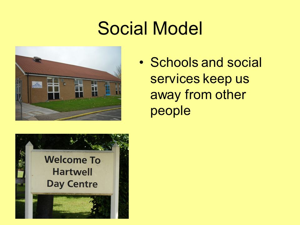 Social Model Schools and social services keep us away from other people