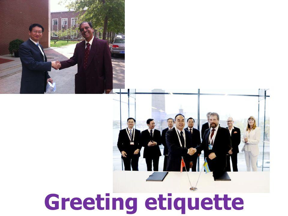 Greeting etiquette