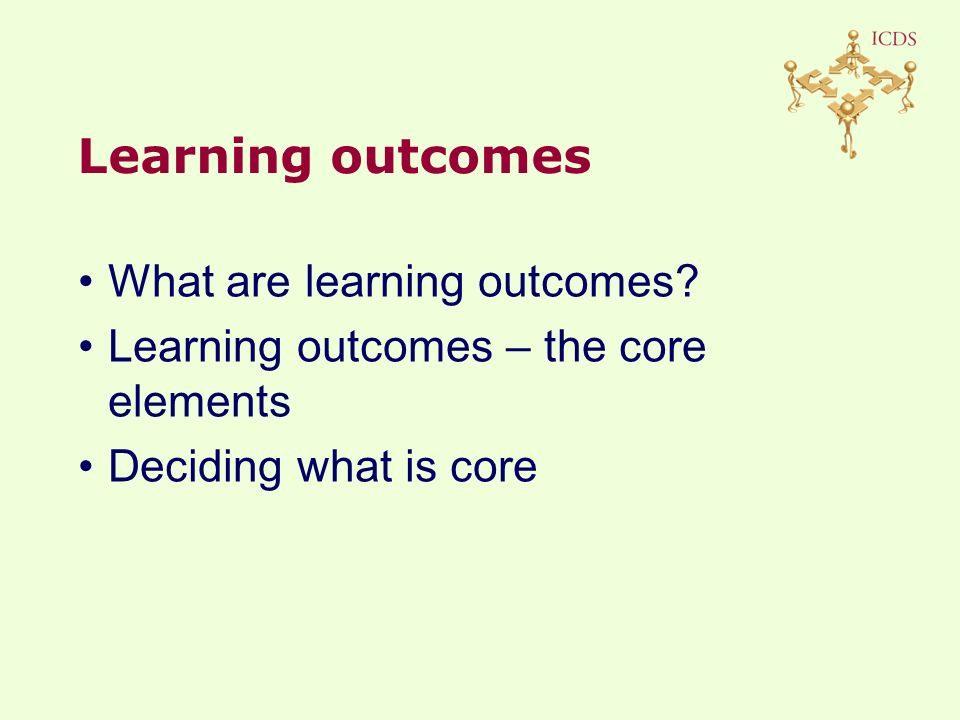 What are learning outcomes.
