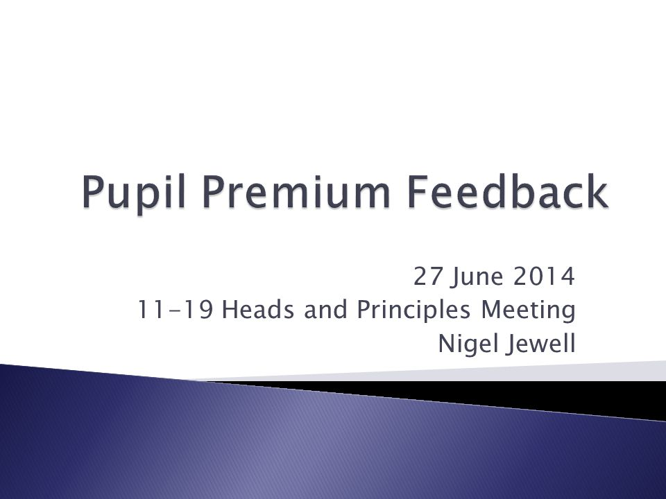 27 June Heads and Principles Meeting Nigel Jewell