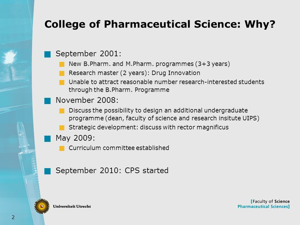 1 college of pharmaceutical sciences andries koster irma meijerman 2 college of pharmaceutical science why september 2001 new b spiritdancerdesigns Choice Image
