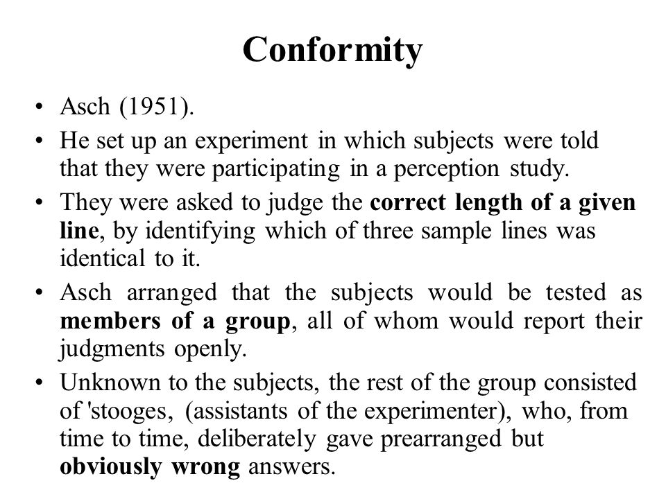 social effects of conformity essay