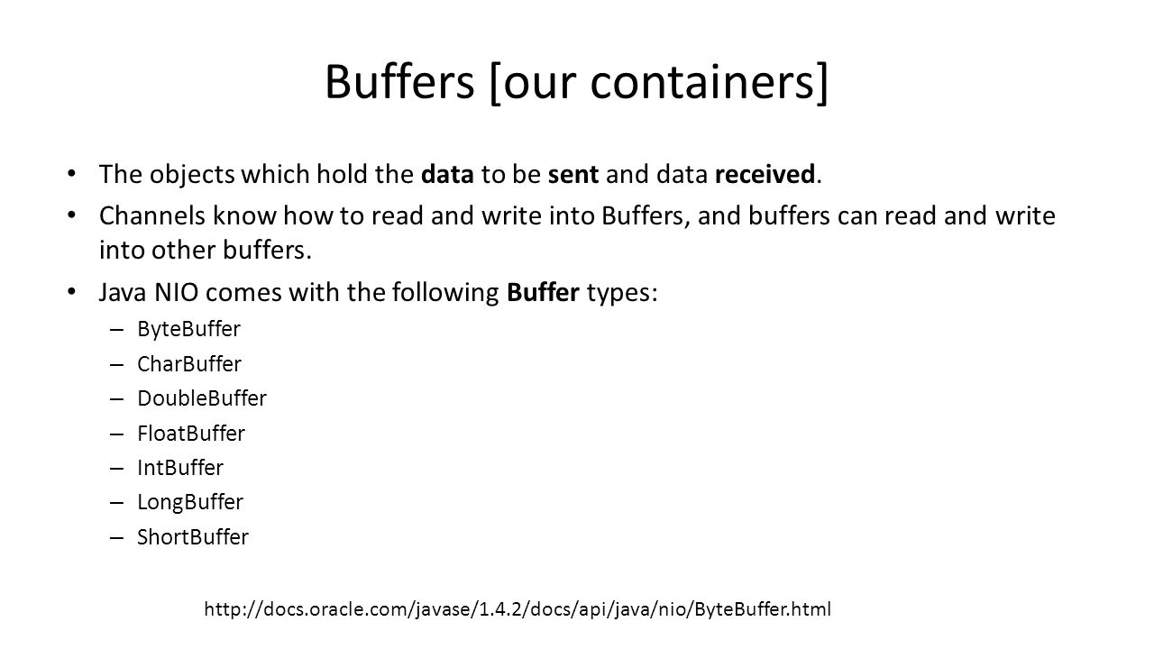 Practical session 11 multi client server java nio ppt download 10 buffers baditri Images