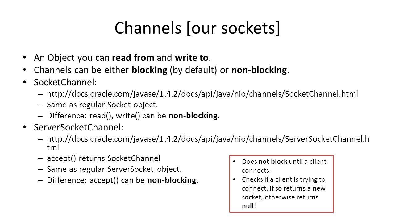 Practical session 11 multi client server java nio ppt download 8 channels baditri Images
