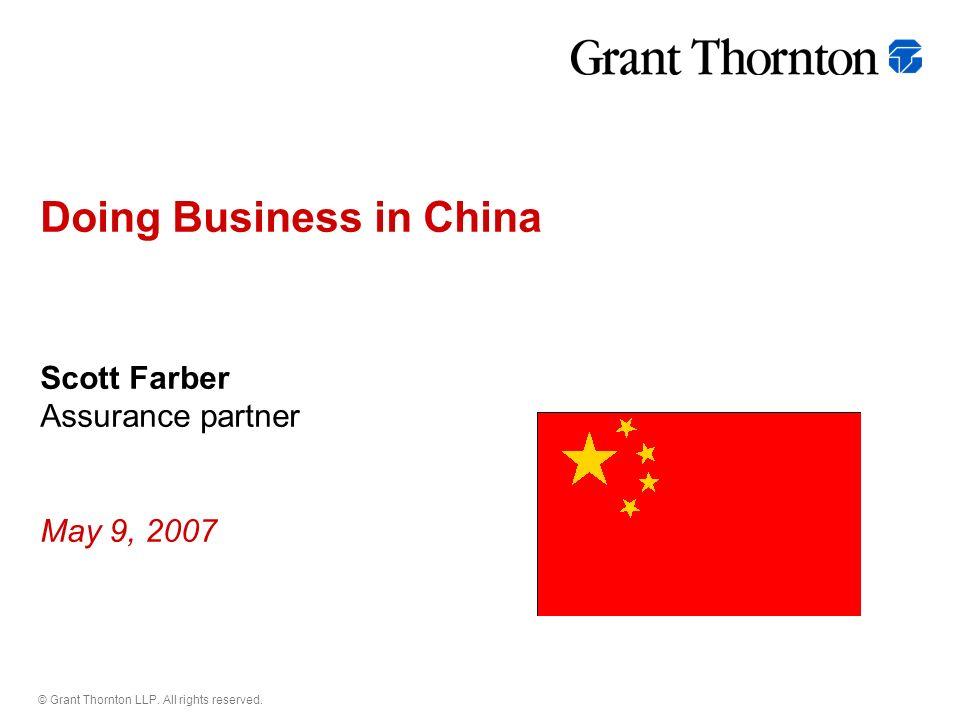 grant thornton china