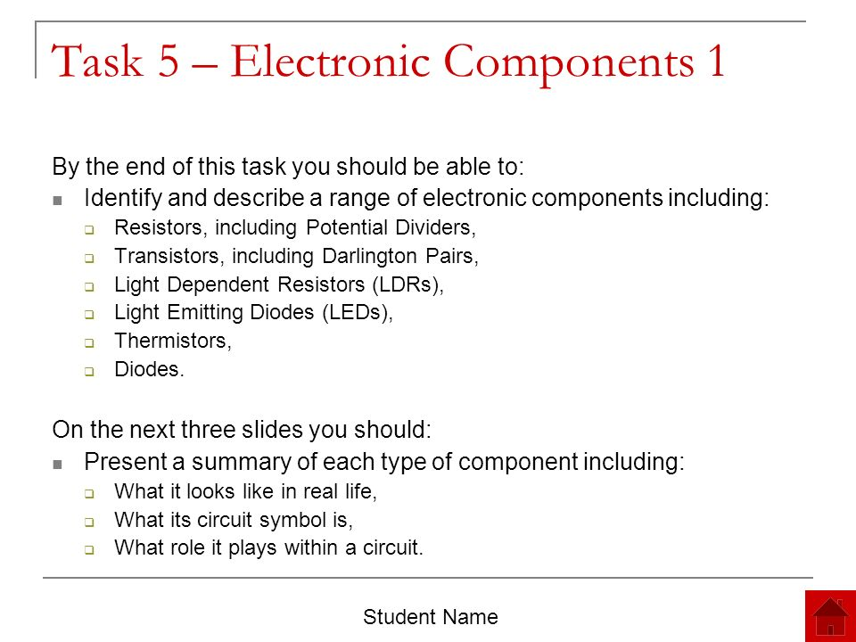 Electronics and Control Systems Unit 4 Revision Portfolio Student ...