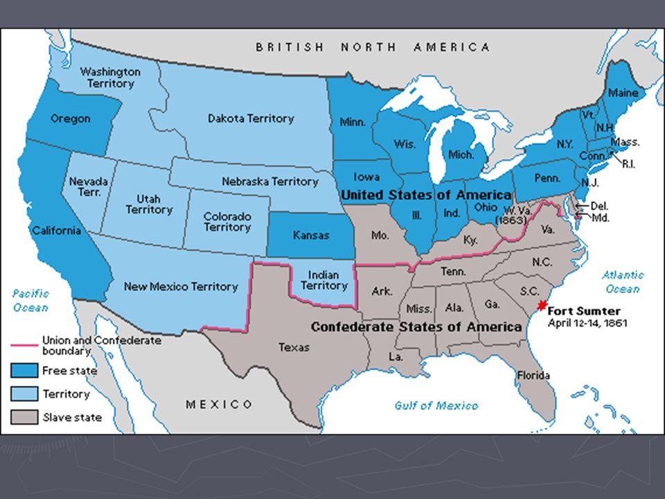 CIVIL WAR Unit IVB AP United States History Fundamental Question - Fort sumter on us map