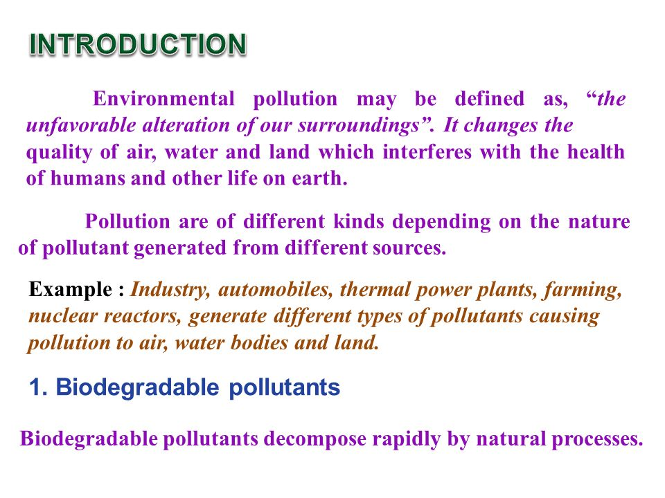 Pollution - Causes, Effects and Prevention of the