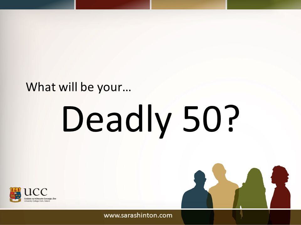 Deadly 50 What will be your…