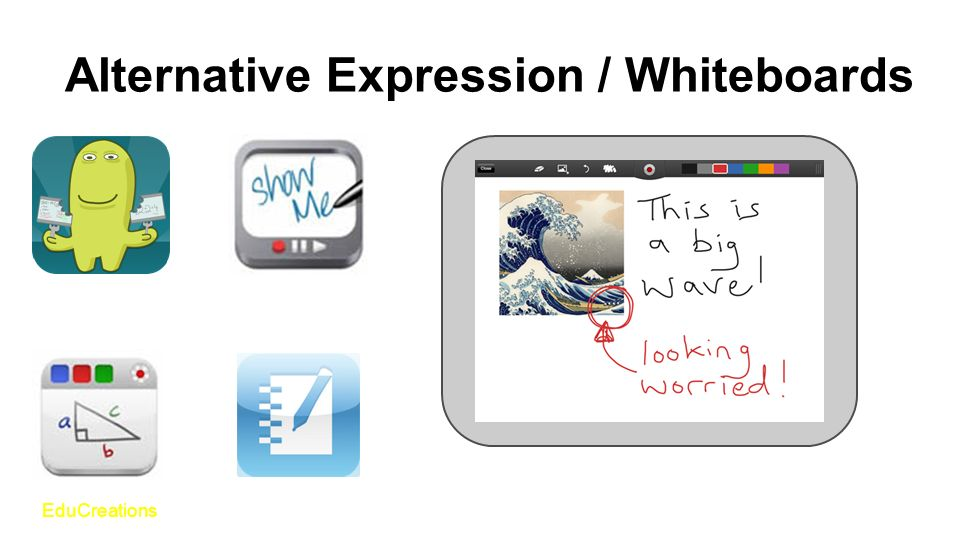 Alternative Expression / Whiteboards EduCreations