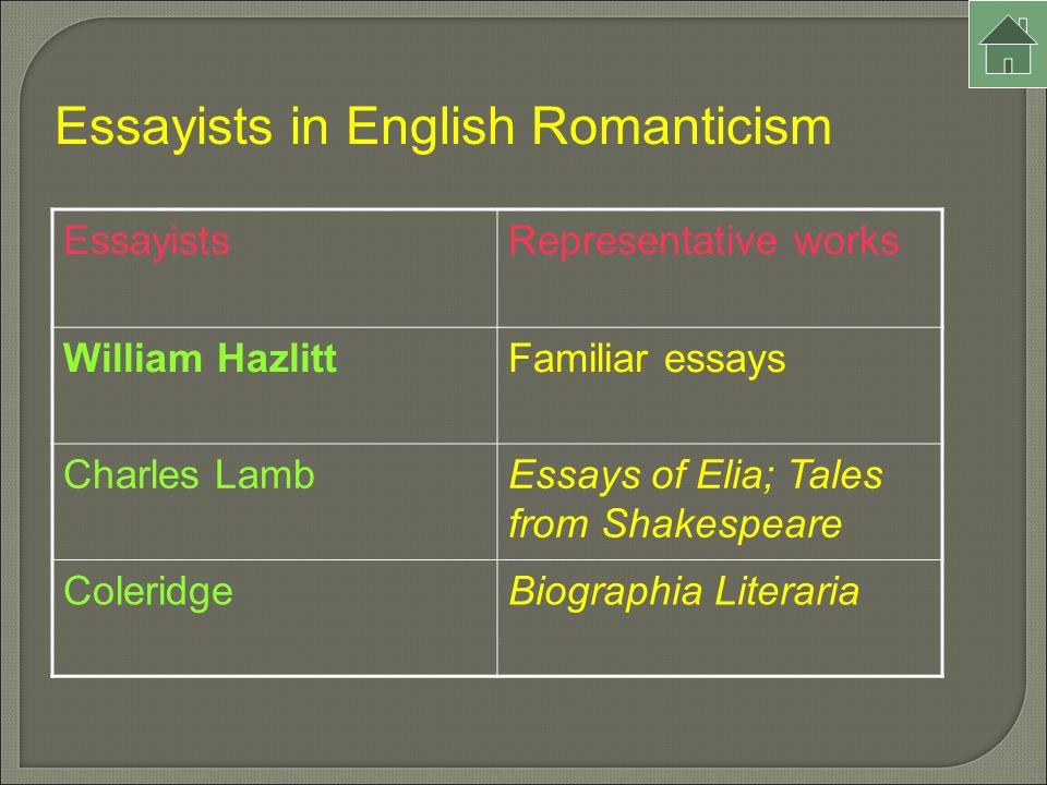 romanticism and lamb essay