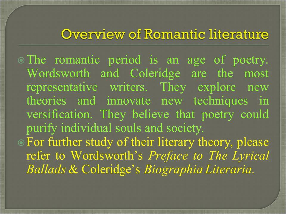 Poets Of Romantic Age Of English Literature