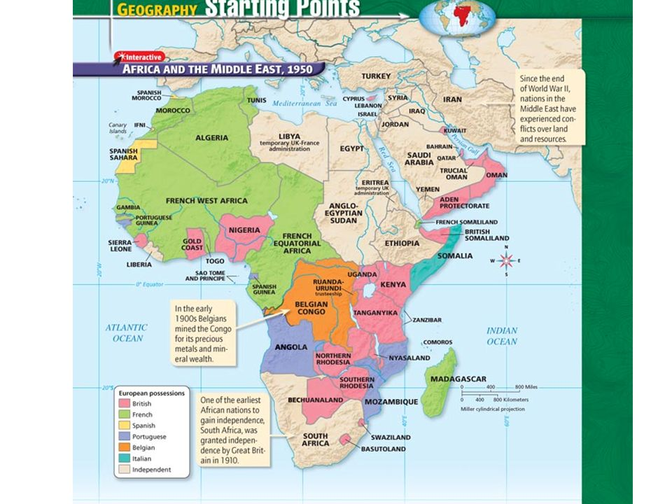 African Nations Gain Independence Main Idea After World War II