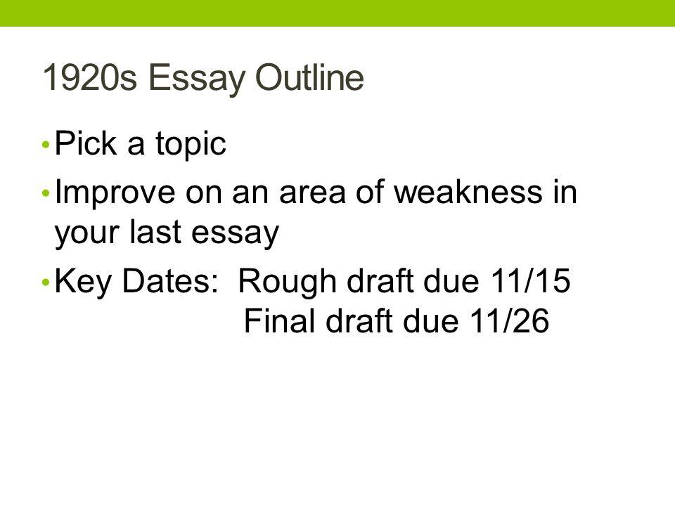 essay rough outline