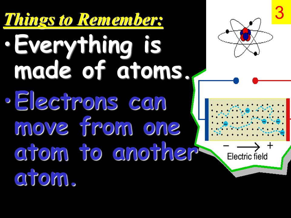 Things to Remember: Everything is made of atoms.Everything is made of atoms.