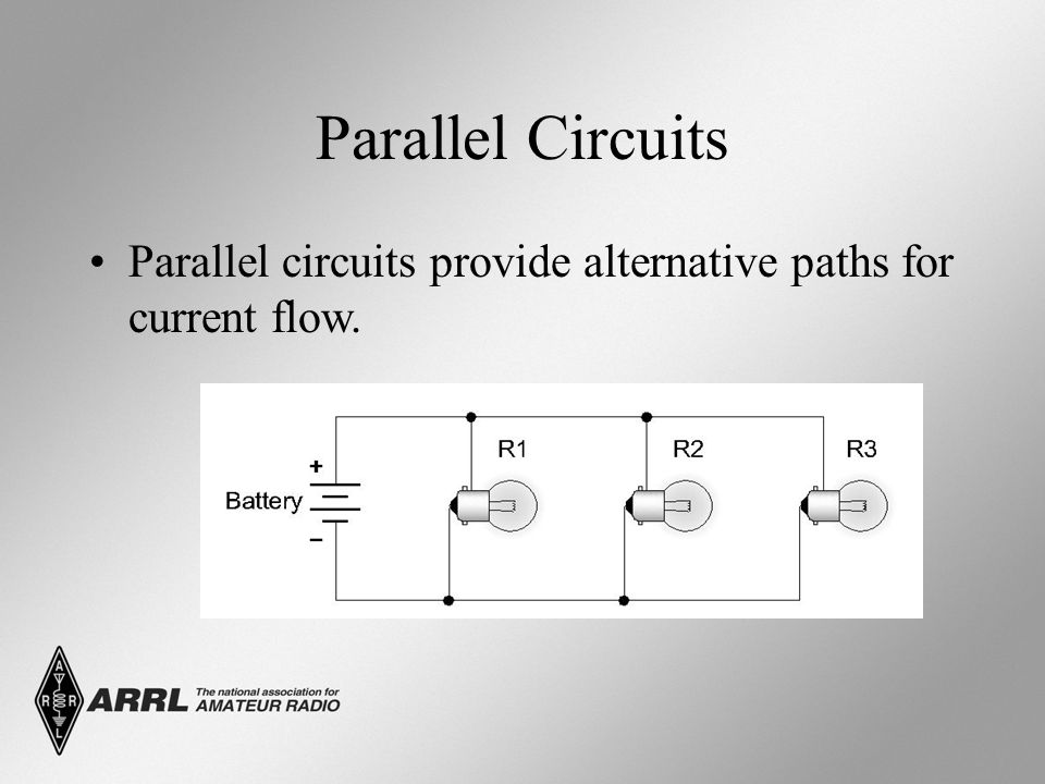 Parallel Circuits Parallel circuits provide alternative paths for current flow.