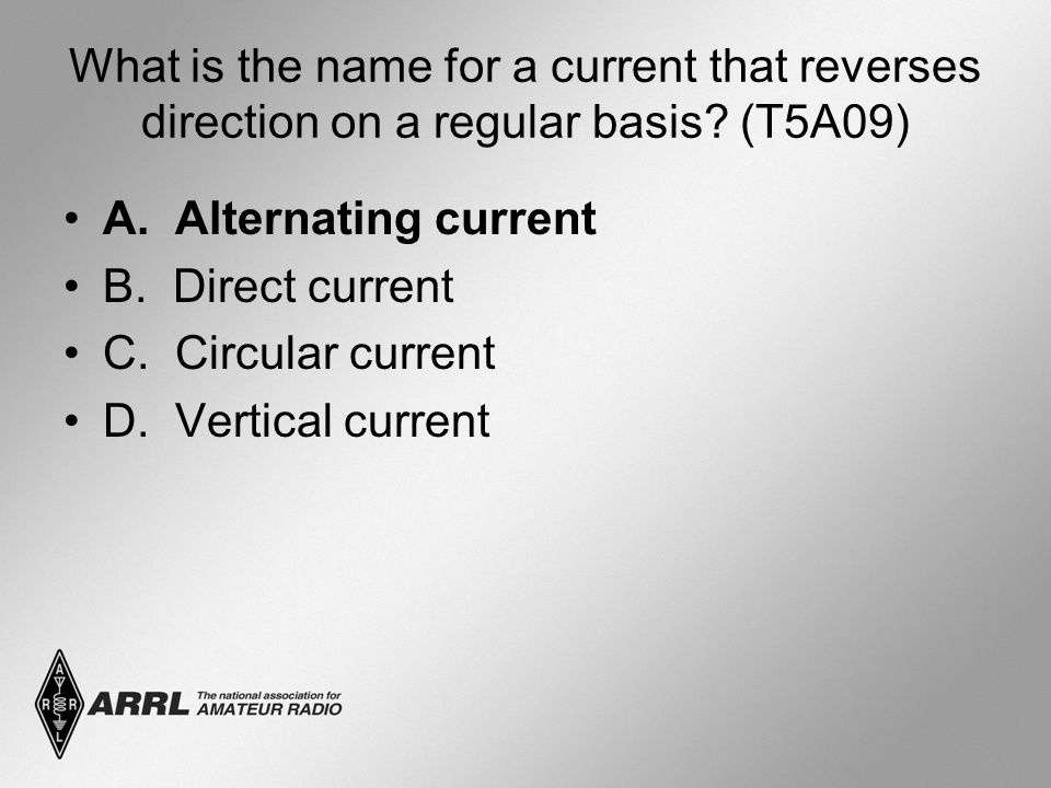 What is the name for a current that reverses direction on a regular basis.