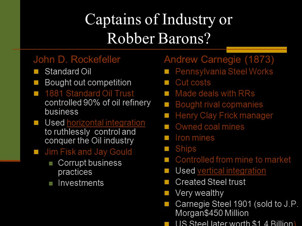 robber barons and rebels essay Essay rubrics exam prep links sitemap homework‎  ‎ wednesday, feb 15th posted feb 9, 2012, 7:39 am by rob curry-smithson  robber barons and rebels (p253-p295) mr curry-smithson 1 give three examples of technology speeding up production 2 what is.