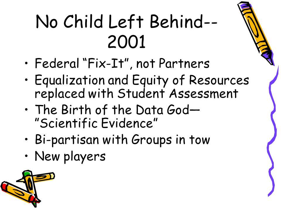 no child left behind is it