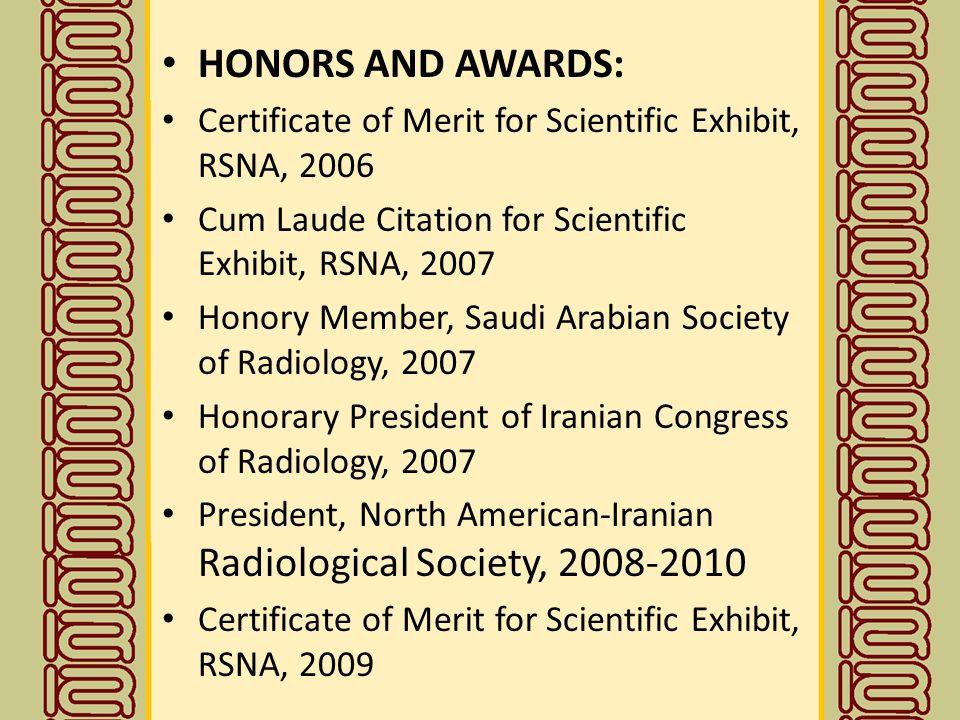 Gold Medalists Of Iranian Society Of Radiology 2 Professor G