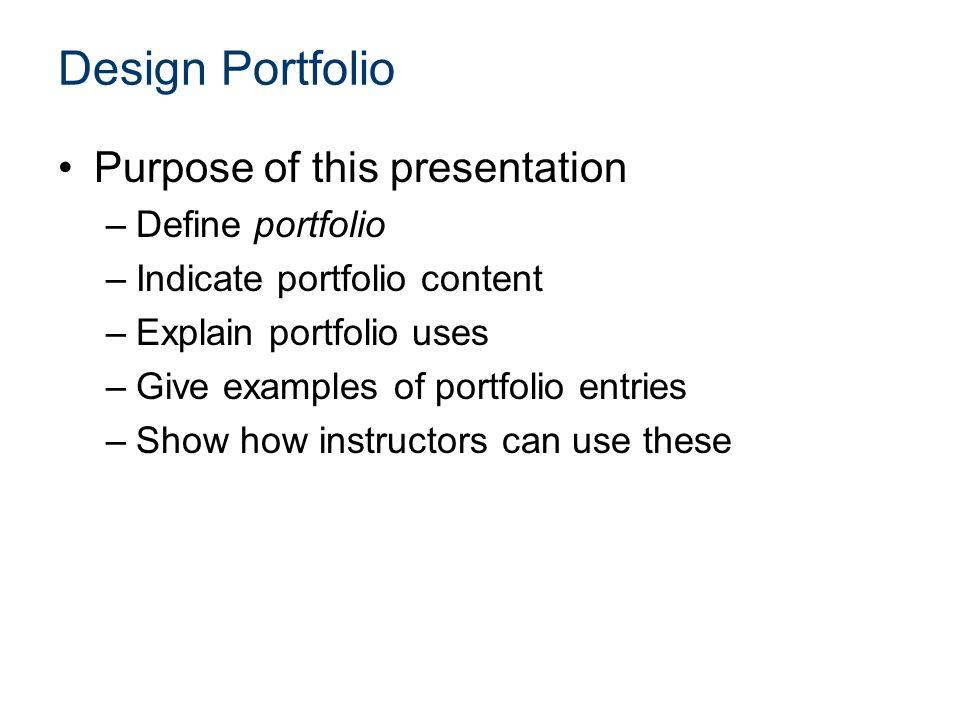 define presentation