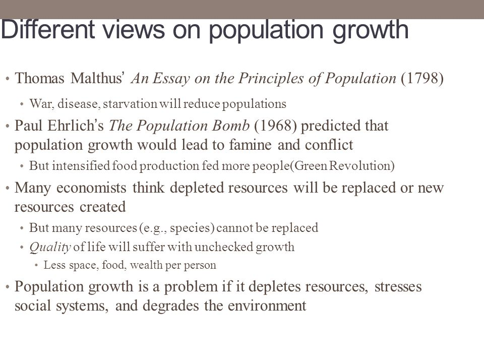 population growth and environmental degradation in Others believe that the relationship between population growth and environmental problems is more complicated and environmental degradation.