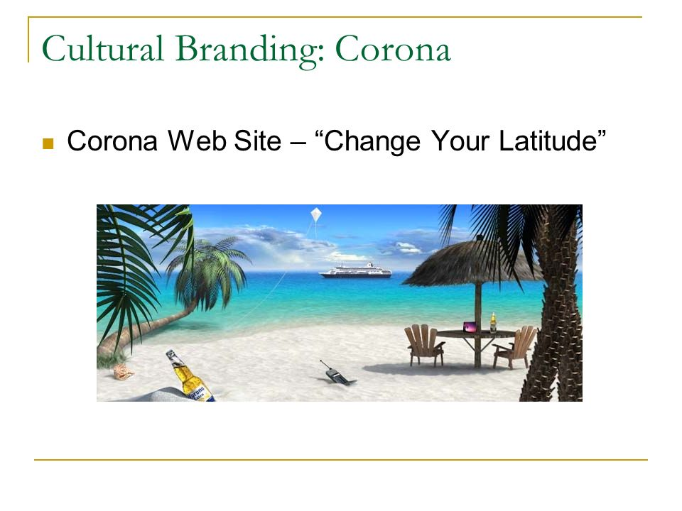 Cultural Branding: Corona Corona Web Site – Change Your Latitude
