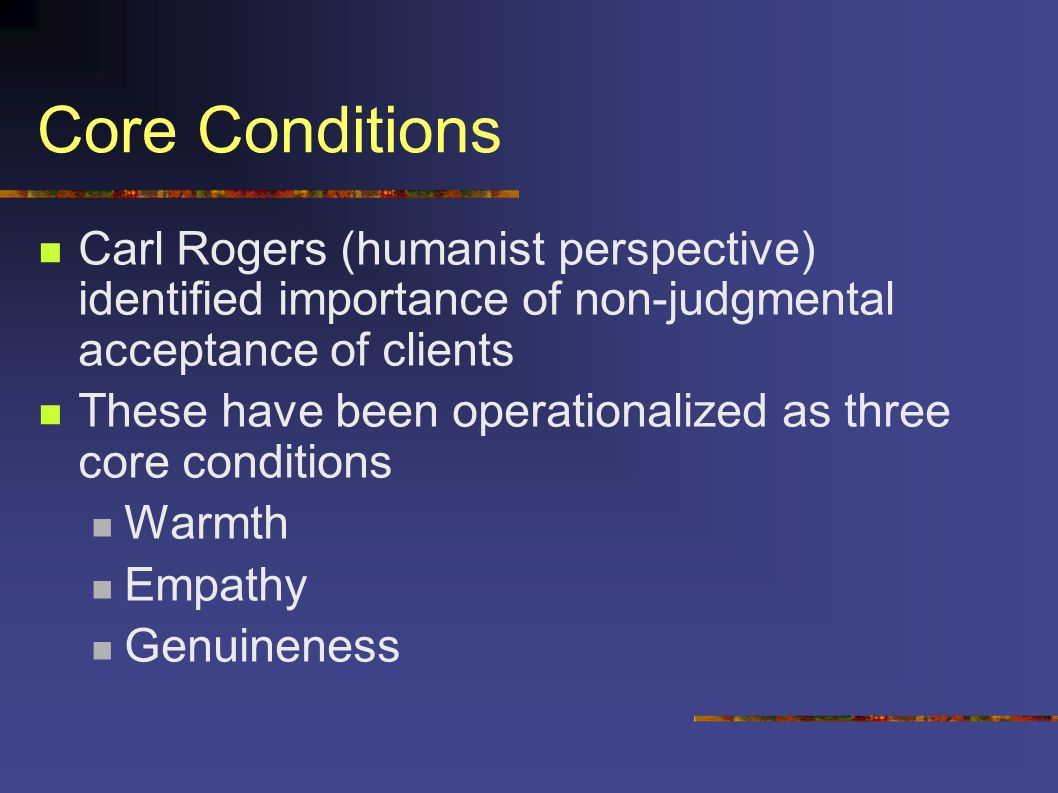 essay on carl rogers core conditions
