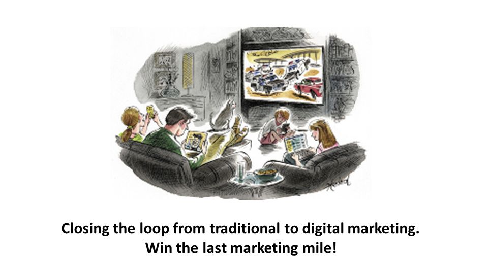 Closing the loop from traditional to digital marketing. Win the last marketing mile!