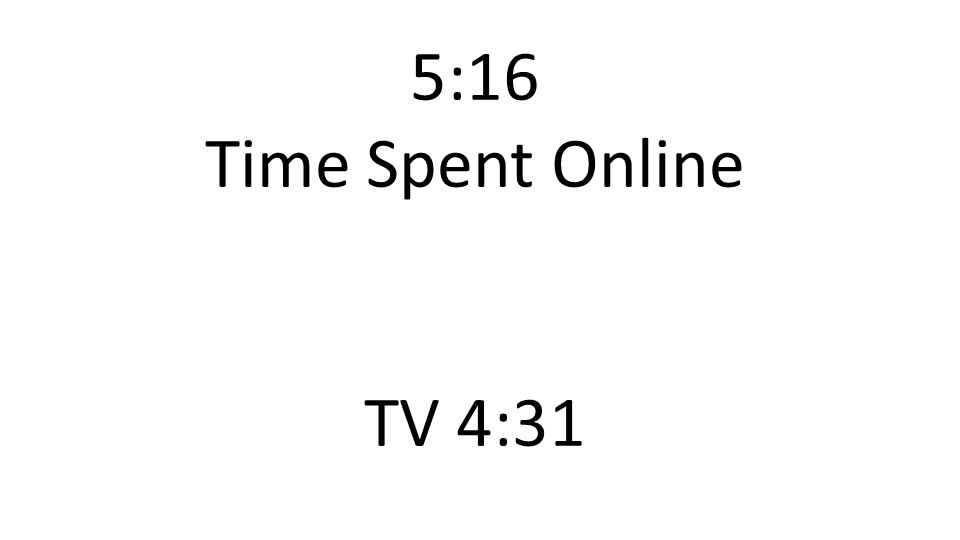 5:16 Time Spent Online TV 4:31