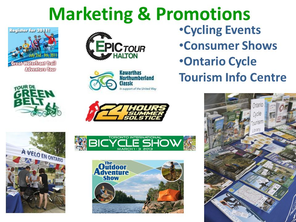 Marketing & Promotions Cycling Events Consumer Shows Ontario Cycle Tourism Info Centre