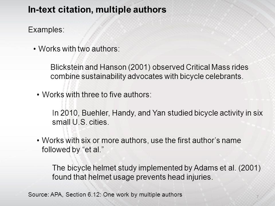 Apa citation two authors