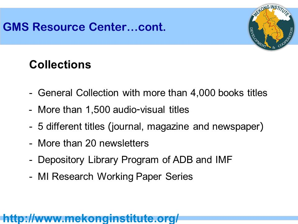 GMS Resource Center…cont.